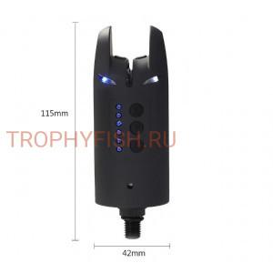 Набор электронных сигнализаторов поклевки с пейджером DAYO BATMAN (3+1)