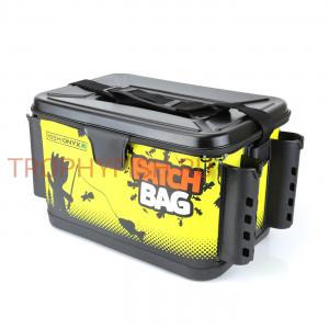 Сумка для снастей Yoshi Onyx Patch Bag с держателями для спиннингов, черно-желтая