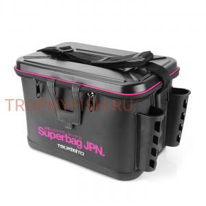 Сумка рыболовная TSURIBITO Superbag JPN 36*23*25cm, с держателями удилищ, черная