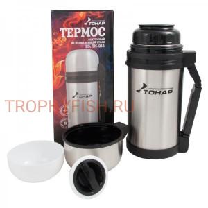 Термос HS.TM - 011 1200ml, Тонар (доп. пласт. чашка, скл ручка, ремень)