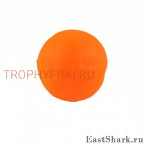 Силиконовая бусина оранжевая d 8 ES201602