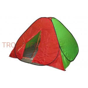 Палатка-автомат SAT-7331 красно-зеленый с дном (210/210/120)