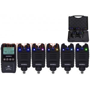 Набор электронных сигнализаторов поклевки с пейджером  Trophy Fish TF-0073М (5+1)