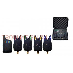 Набор электронных сигнализаторов поклевки с пейджером Trophy Fish TF-0016 (4+1)