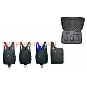 Набор электронных сигнализаторов поклевки с пейджером Trophy Fish TF-0041 (3+1)