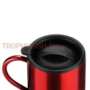 Термокружка цвет красный с крышкой 400мл