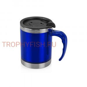 Термокружка цвет синий с крышкой 400мл