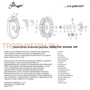 Катушка Stinger Arctic Char XP