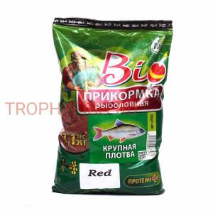 Прикормка Биоприкорм Крупная Плотва красный цвет 1,1кг