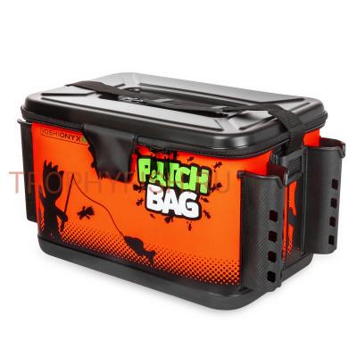 Сумка рыболовная Yoshi Onyx Patch Bag с держателями для удилища, 40х26х27, черно-оранжевая
