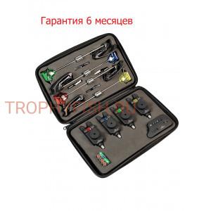 Набор электронных сигнализаторов поклевки с пейджером EastShark + свингеры TLI-33 (4+1+4)